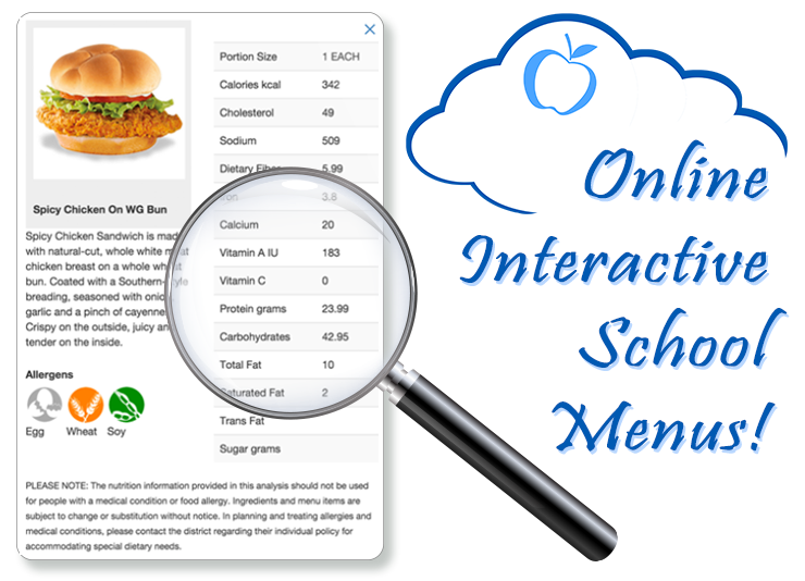 School Nutrition and Fitness Menus